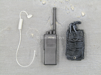 Secret Service Agent - Black Radio w/Earphone & Pouch