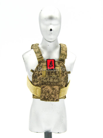 Seal Team Six Red Team - Desert AOR1 Slick Body Armor w/Patch