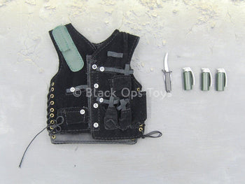 Special Air Service - Black Vest & Accessory Set