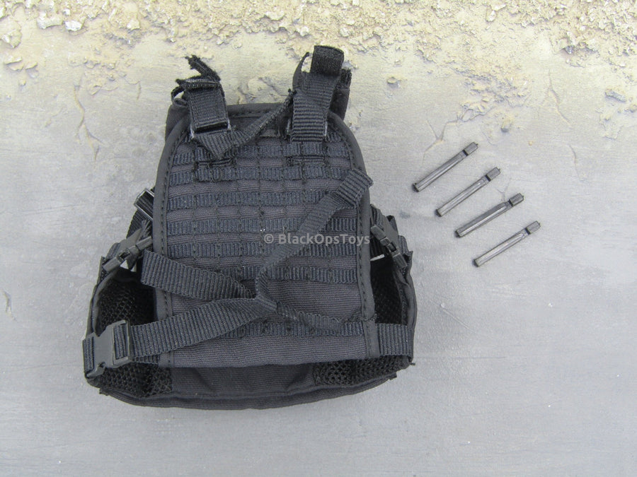 Special Forces Night Ops - Black Plate Carrier Vest