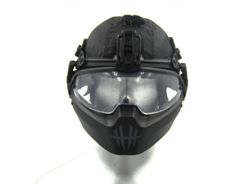 Ghost Series Titans - Black Helmet w/Front Mount Guards