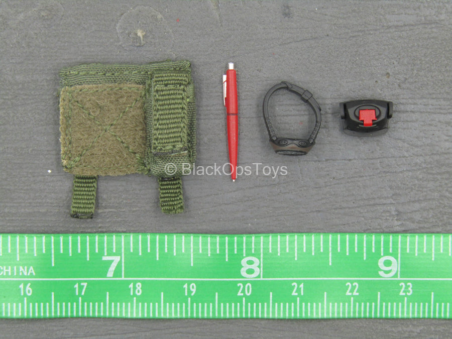 Russian SSO - Green MOLLE Admin Pouch w/Watch & Headlamp