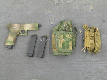 Russian SSO - Camo Pistol w/MOLLE Holster & Mag Pouch