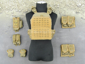 Operation Red Sea PLA Medic - Tan Combat Vest w/Pouch Set