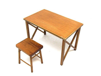 WWII - German Typist Sophie - Wooden Collapsible Desk & Chair