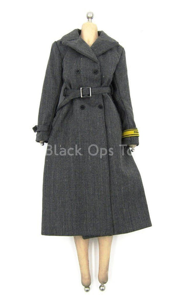 WWII - German Typist Sophie - Gray Officer Trench Coat