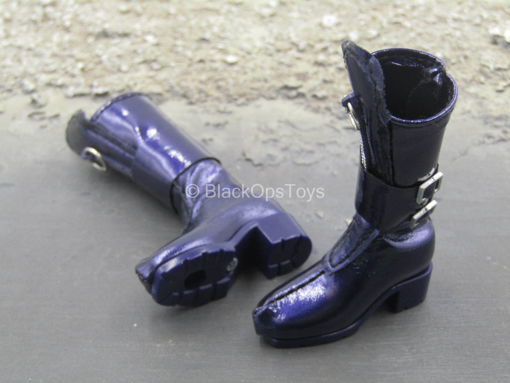Comic Book Catwoman - Purple Female Boots (Peg Type)
