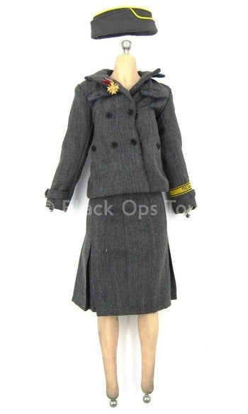 WWII - German Typist Sophie - Gray Officer Uniform Set