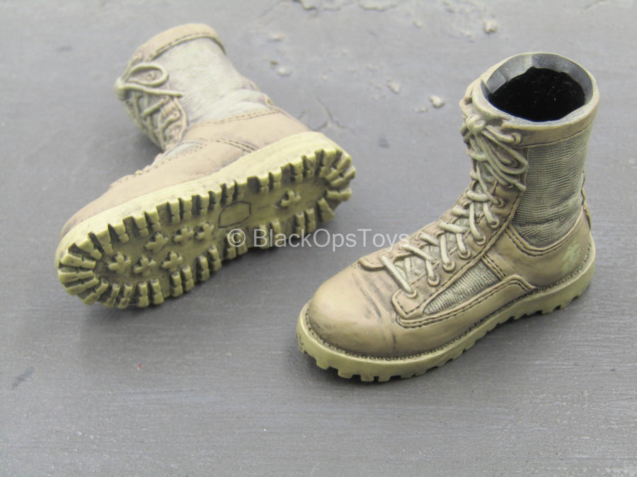 26th MEU 2nd Force Recon - Tan Weathered Boots (Foot Type)