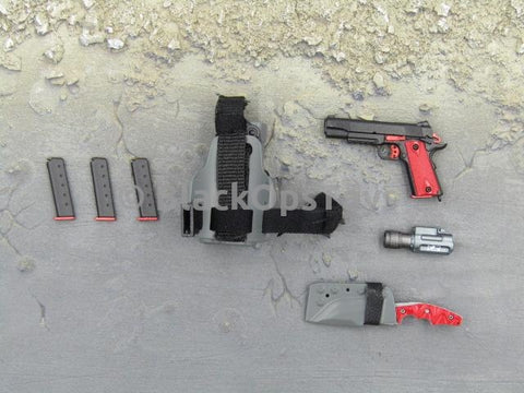 BlackOpsToys ZERT Secret Projects 1911 Pistol, Knife & Dropleg Holster  Special Set 5