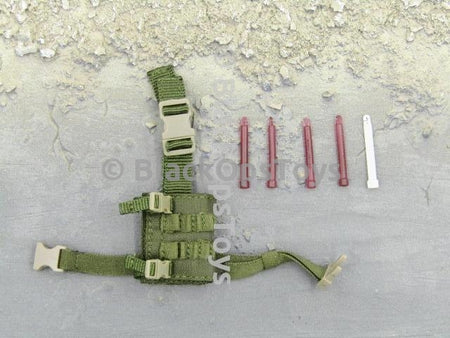 Green Wolf Gear GALAC-TAC Desert Raider Green Dropleg Holster & Light Sticks