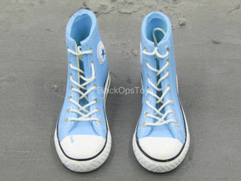 Blue Converse Shoes (Foot Type)