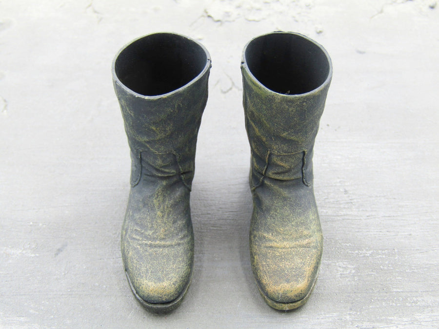 Mad Max Black Weathered Boots Foot Type Blackopstoys