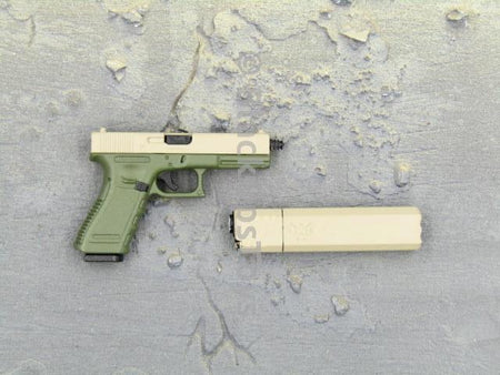 Green Wolf Gear GALAC-TAC Desert Raider Pistol & Suppressor