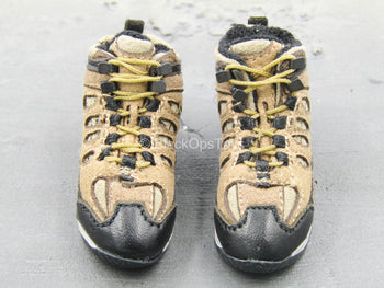 Medal of Honor - Preacher - Black & Tan Combat Boots (Foot Type)