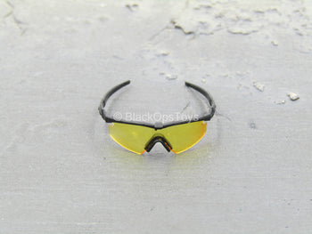GLASSES - Black Glasses w/Yellow Lenses
