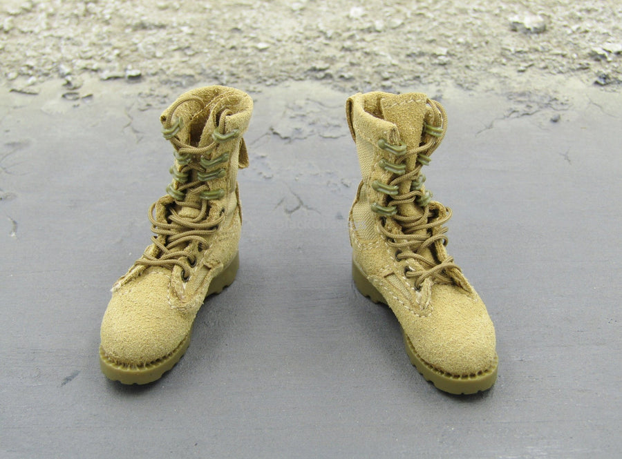 Naval Special Warfare Tan Combat Boots Foot Type