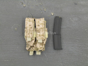 SMU Frozen Night Assault - AOR1 Dual Cell Stick Mag Pouch w/Mag