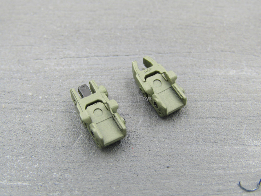 1/6 Scale KRISS Vector SMG MBUS Flip Up Iron Sights (OD Green) x2