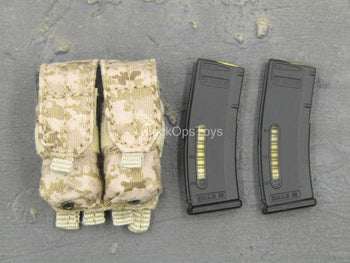 SMU Frozen Night Assault - AOR1 Dual Cell AR Mag Pouch w/Mags
