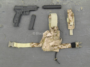 SMU Frozen Night Assault - P226 Pistol w/Suppressor & AOR1 Holster