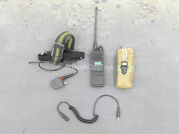 U.S. Navy Seal - Black Radio w/Head Set & Tan Radio Pouch