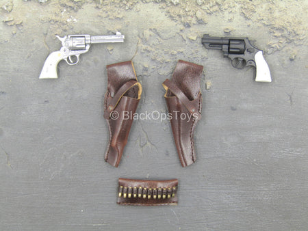 WWII - US Army Patton - Revolver Pistols w/Dual Pistol Holster