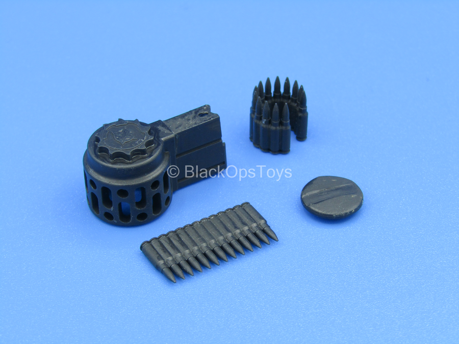 Custom - E&S M14 - Black 7.62 Skeleton Drum Magazine (Type 1)