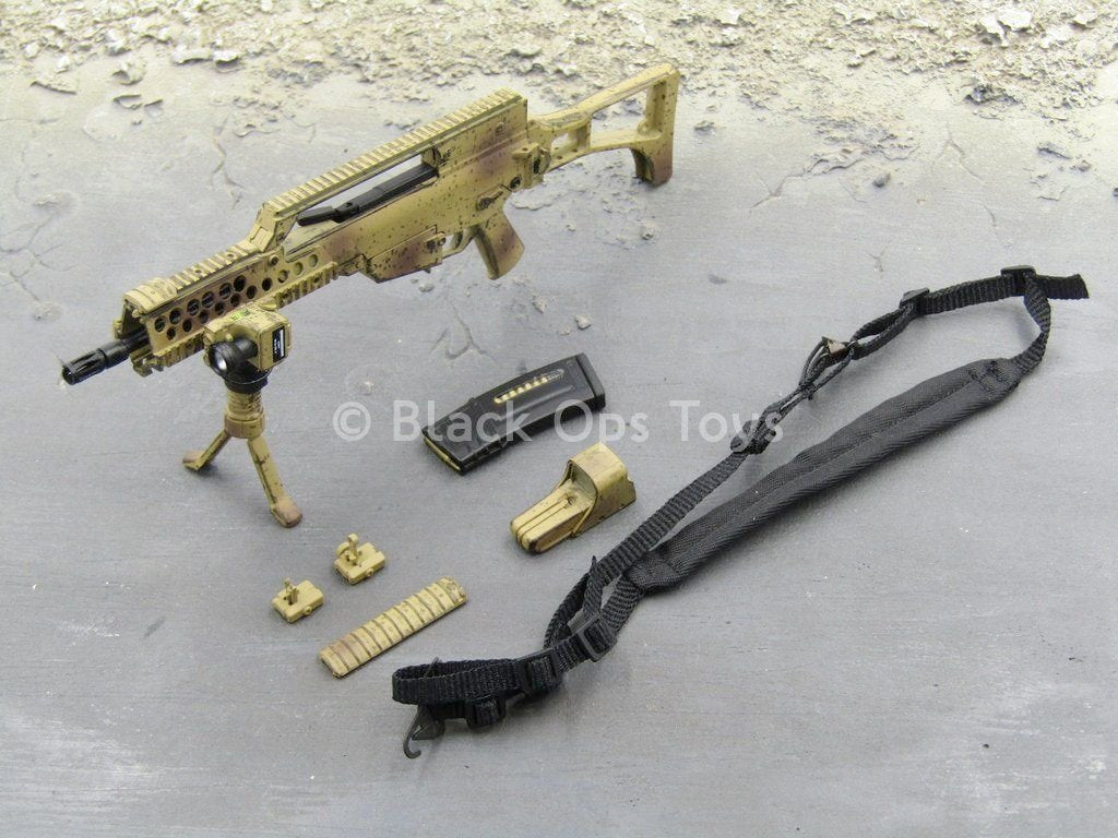 Tan HK G36 w//Accessory Set 1//6 Scale Toy German Kommando Spezialkräfte