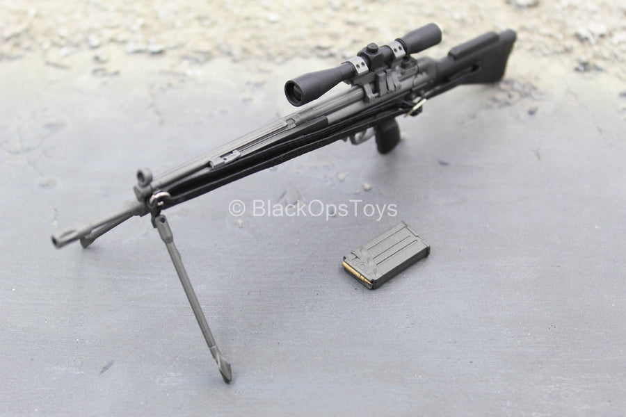 British SAS - Sniper - Black & Grey HK33 SG1 Rifle w/Bipod