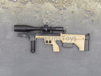 One Sixth Scale Model Tan DTA SRS Sniper Rifle with Short Barrel & Scope 034