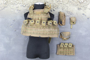 Iraq - Black Knight Spec. Ops. - Tan Plate Carrier w/Pouch Set