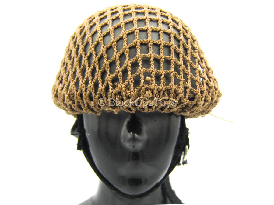 WWII - Soldat 1st Airborne Division - Green Helmet w/Brown Netting
