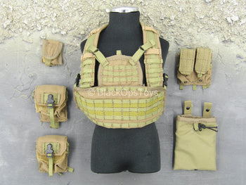 Iraq - Black Knight Spec. Ops. - Tan Chest Rig & Pouch Set
