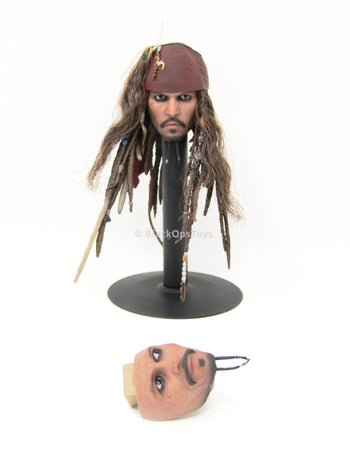Pirates of The Caribbean Jack Sparrow Head Sculpt w/Interchangable Face