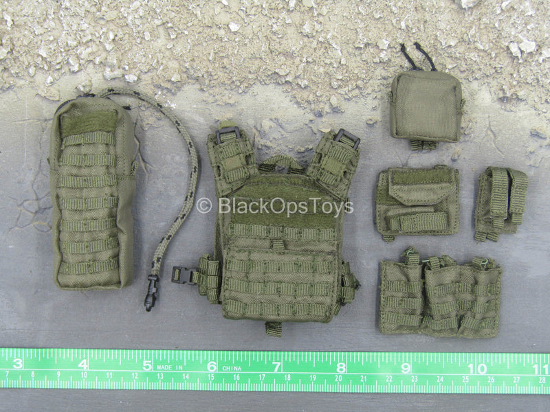 ZERT - Deathridge - OD Green Plate Carrier & Pouch Set