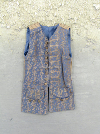 Pirates of The Caribbean Jack Sparrow Blue Patterned Vest