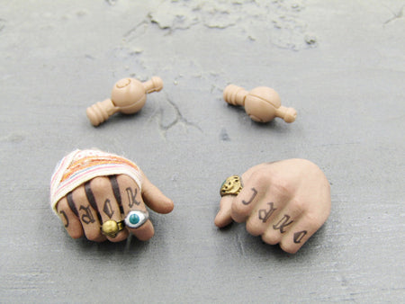 Pirates of The Caribbean Jack Sparrow Tattoo Hands w/Pins Set