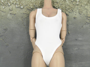 Female White Body Suit Under Garment