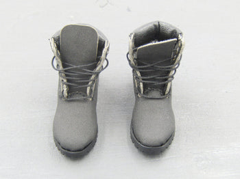 Female Black High Top MOTO Shoes (Foot Type)