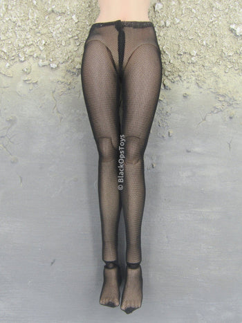 Female Black Sheer Leggings