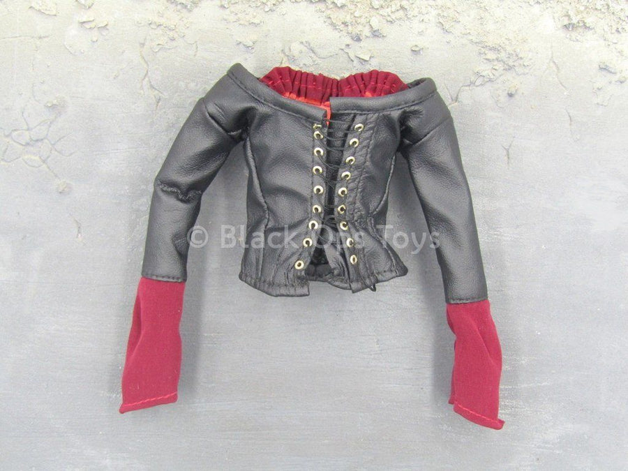 BUFFY - Vampire Willow - Black Leather Like Corset Top