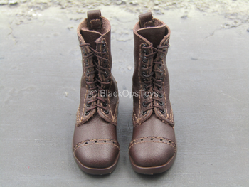 Titanic - Jack Dawson - Brown 1905 Marching Boots (Foot Type)