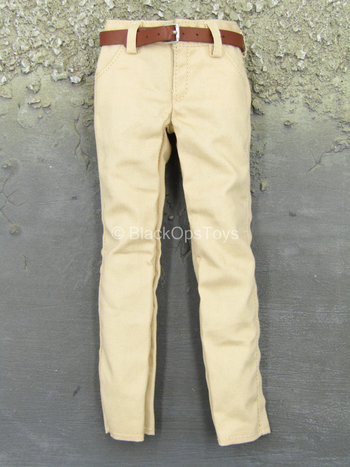 Sheldon Cooper - Tan Pants w/Leather Like Belt