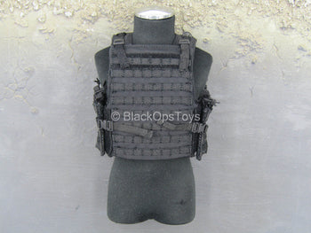 US Navy - Commanding Officer - Black Plate Carrier Vest