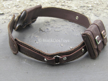 The Devil Hunter - Brown Leather-Like Belt w/Pouches
