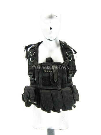 Black Plate Carrier Vest w/Pouches
