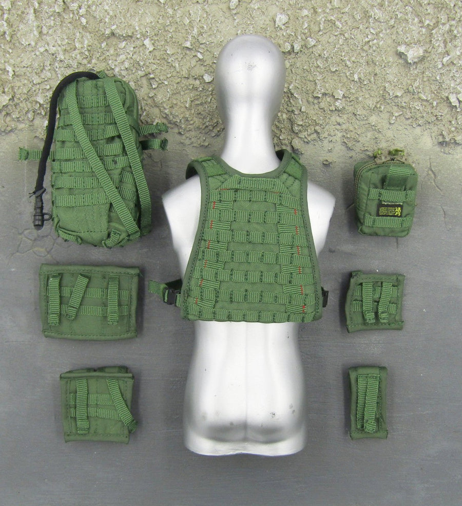 NAVY SEAL - OD Green MOLLE Plate Carrier & Pouch Set