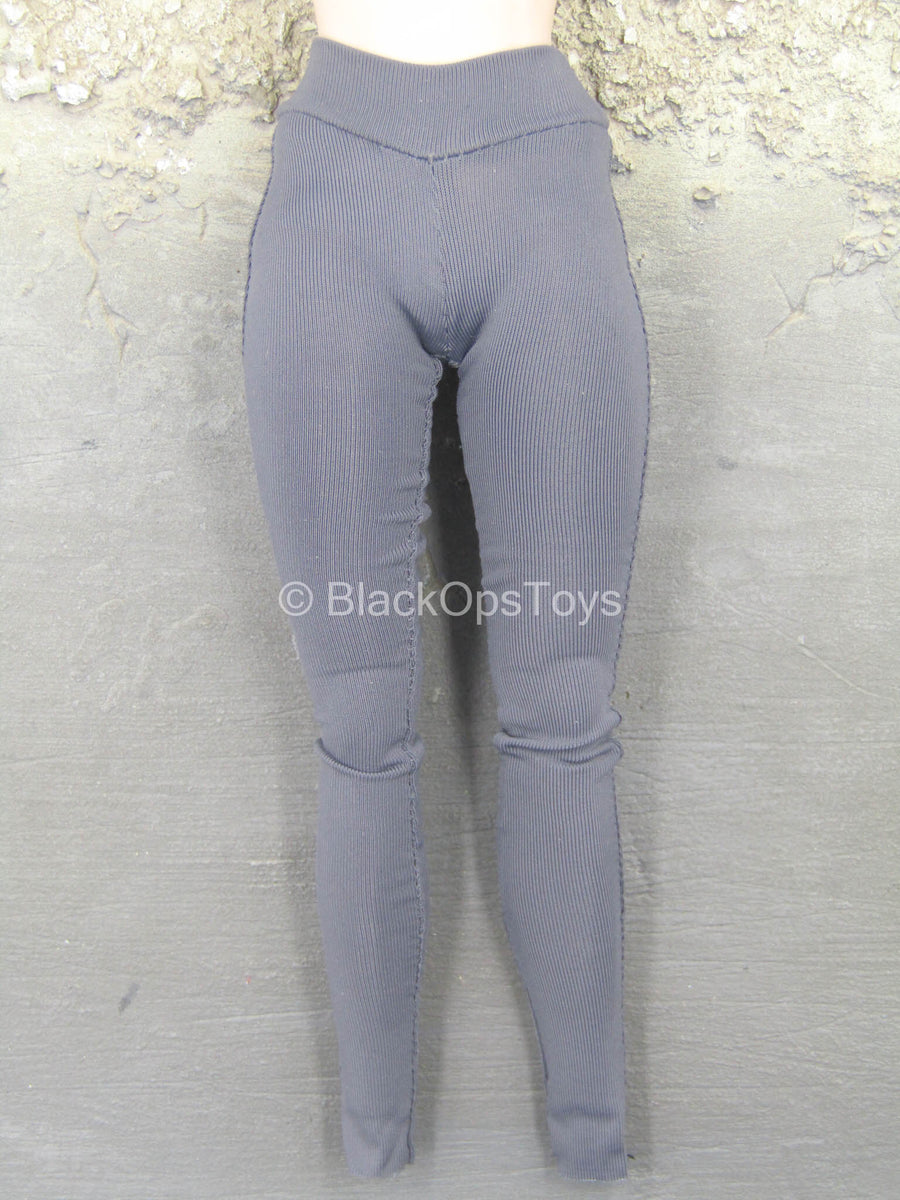 Yoga Suit C - Gray High Waisted Leggings
