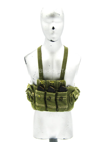 Vietnam OD Green Chest Rig w/AK-47 Magazine (x3)